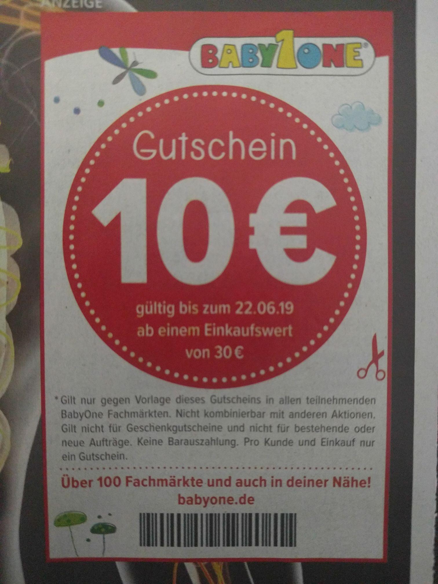 (Offline) BabyOne 10€ Rabatt ab 30€ Einkaufswert
