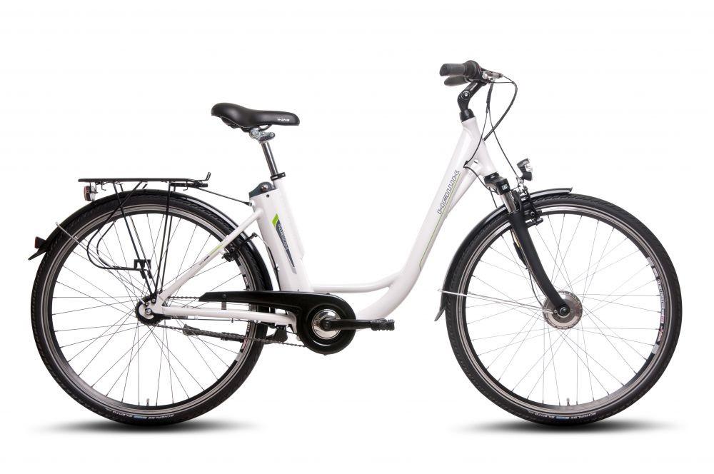 """HAWK Bikes Deep-Z Citybike Pedelec 28"""" in weiß (7 Gang, Nabenschaltung, Frontmotor 250 W) für 834€ + 158,90€ in Superpunkten"""