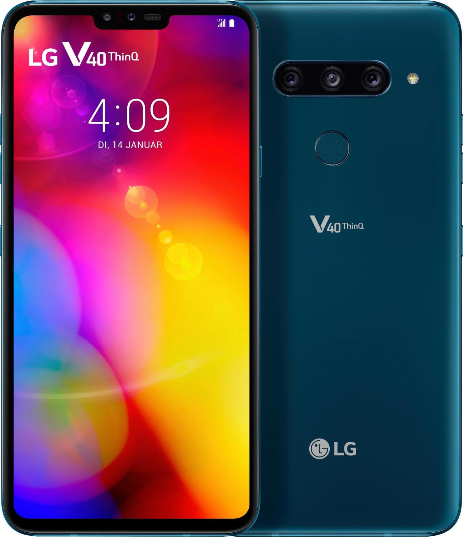 """Smartphone-Fieber"": z.B. LG V40 ThinQ (6.4"", 3120x1440, Snapdragon 845, 6GB RAM, 128GB + microSD, 3300mAh, USB-C, NFC, Klinke, Hybrid-SIM)"