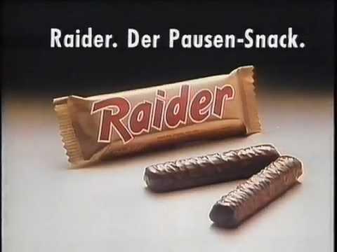 Twix heißt jetzt Raider, sonst ändert sich nix, 6x2 Riegel für nur 2,91 Deutsche Mark