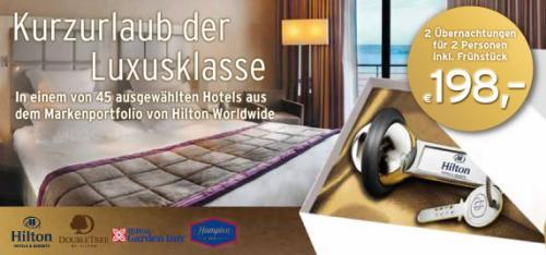 [Tchibo] Hotelgutschein Hilton 2 Nächte 2 Personen inkl. Frühstück im DZ insg. für 198 €