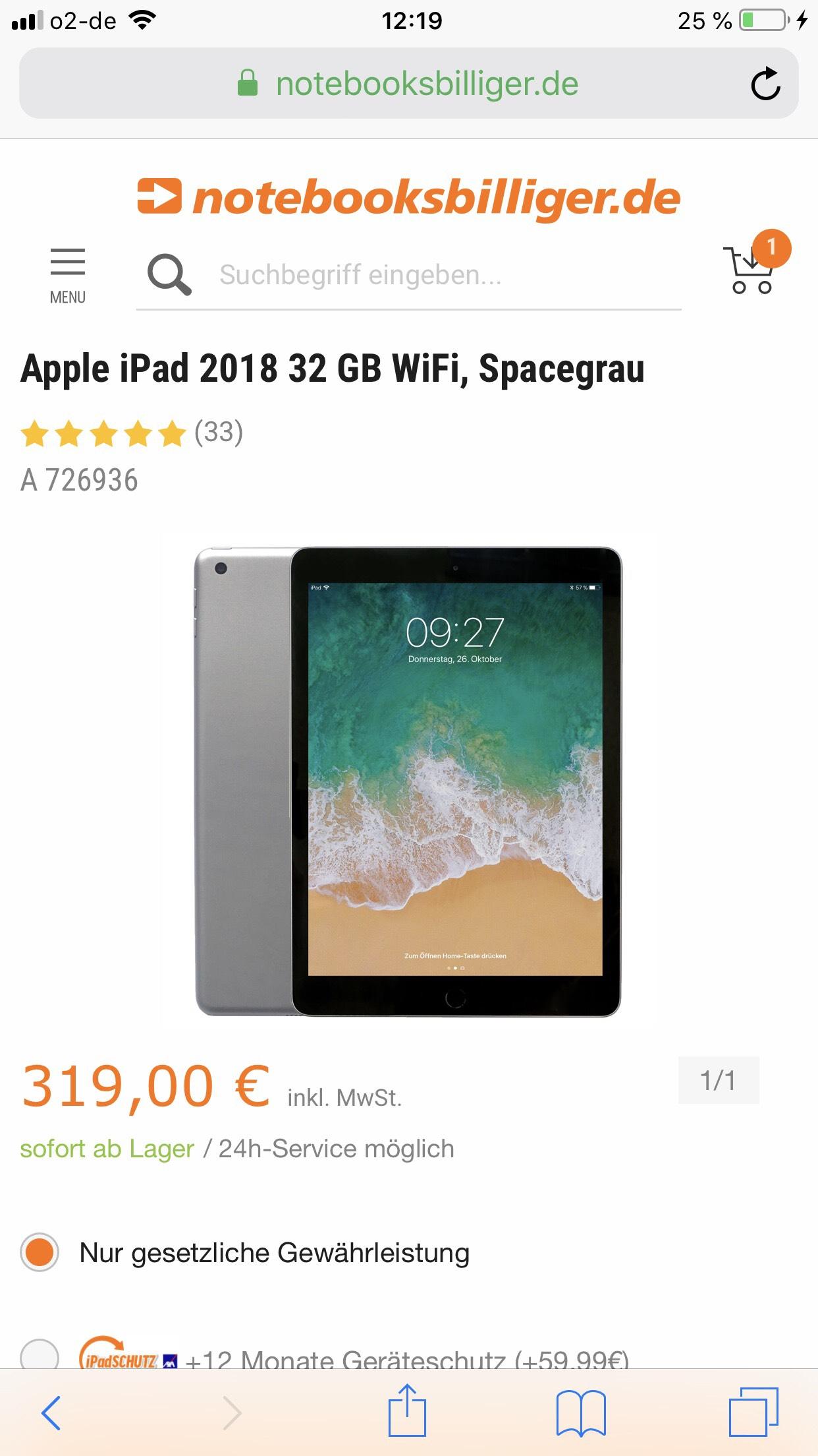 iPad 2018   32Gb   zu einem SEHR guten Preis!