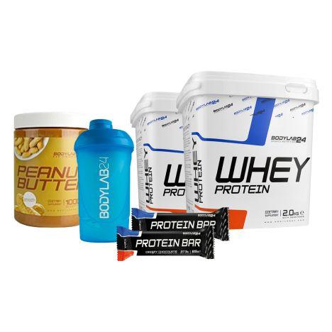 """Bodylab24 """"Protein Power""""-Bundle (4kg Whey + 1kg Peanut Butter + 12 Protein Bars + 1 Shaker) für 56,99€ inklusive Versand"""