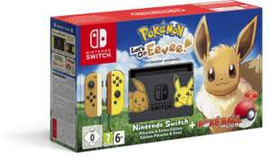 Nintendo Switch Pikachu & Evoli Edition + Pokémon: Let's Go, Evoli + Pokéball Plus für 296,65€ (+ 34,90€ in Superpunkten)