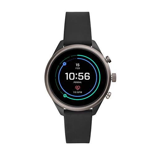 """Smartwatch Fossil Sport 41/43mm schwarz/blau-grau (1.19"""" Touch AMOLED, 390x390, Snapdragon Wear 3100, 512MB RAM, 4GB, 350mAh, NFC, Wear OS)"""