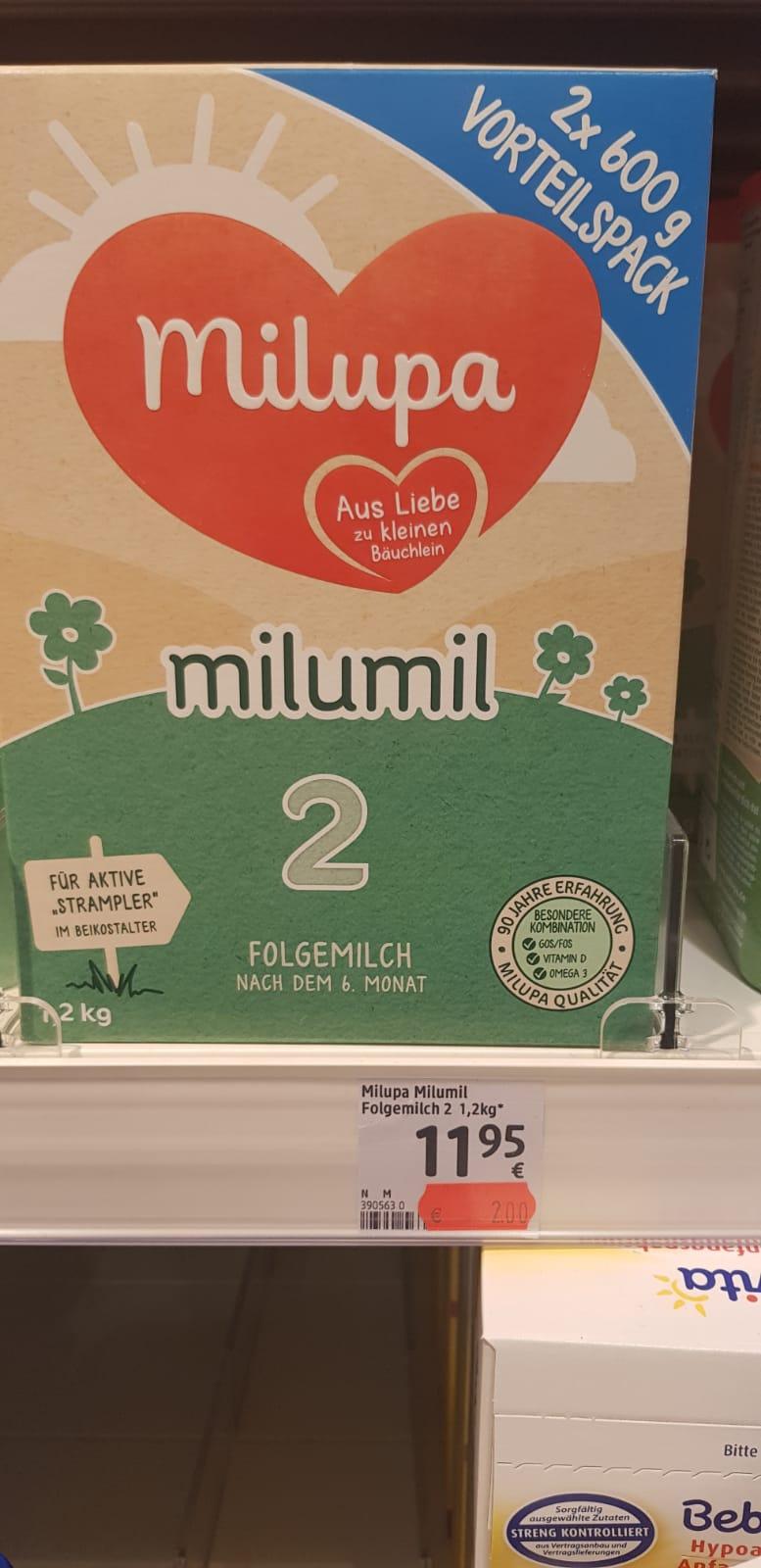 [lokal DM Karlsruhe Oststadt] Diverse Babynahrung für 2 Euro z.B. Milupa Milumil Folgemilch / Hipp Combiotik Folgenahrung