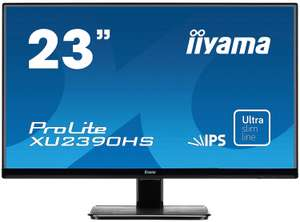 iiyama ProLite XU2390HS-B1 58,4cm (23 Zoll) AH-IPS LED-Monitor Full-HD (VGA, DVI, HDMI, Ultra-Slim-Line) bei Notebooksbilliger & Amazon