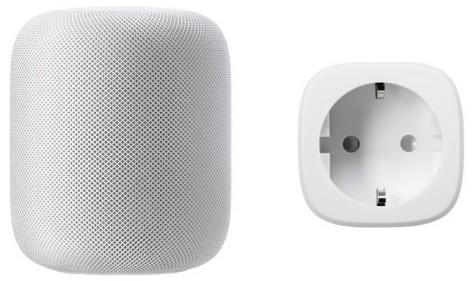 Apple HomePod in Weiß oder Schwarz + Elgato Eve Energy schaltbare Steckdose (mit Verbrauchsmessfunktion, HomeKit kompatibel)