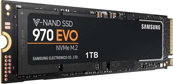 Samsung 970 1TB NVMe M.2 SSD (3D-NAND TLC, Lesen: 3400MB/s, Schreiben: 2500MB/s, IOPS 4K 500K/450K, TBW: 600TB, 1GB SLC-Cache) [MM+Amazon]