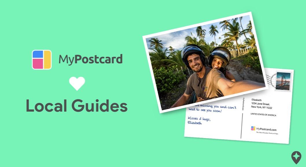 Google Local Guides erhalten kostenlose Postkarte bei MyPostcard