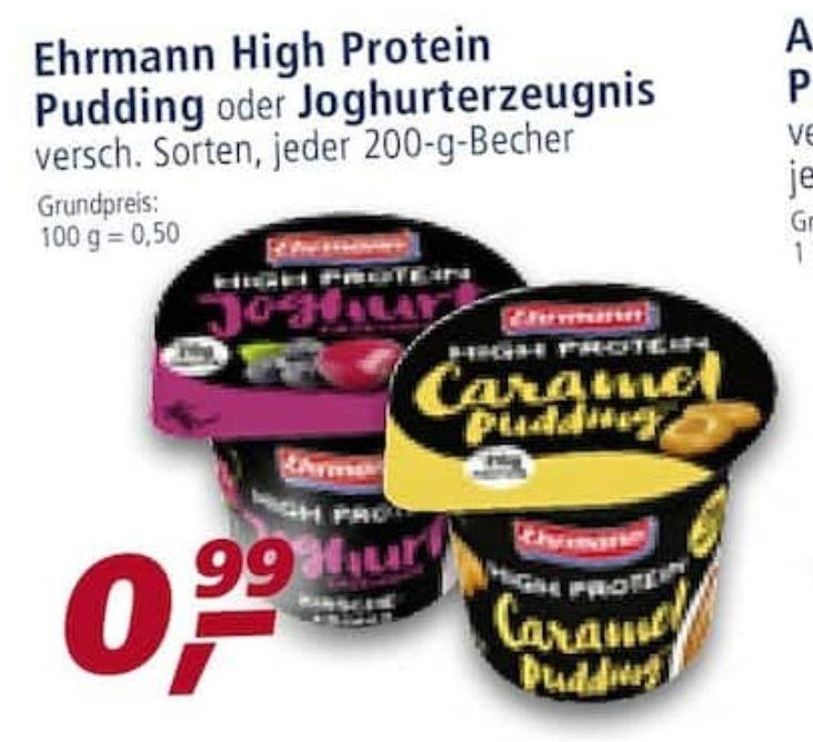 [Real] Ehrmann High Protein Pudding oder Joghurt für 0,99€ - Scondoo 0,60€ auf den Joghurt