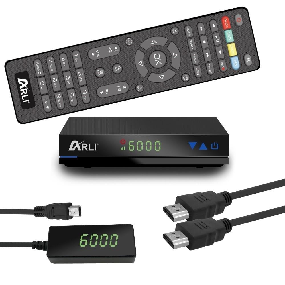 Satellitenreceiver Arli AH1 (DVB-S2, Full HD, HDMI, USB 2.0, Fernbedienung)