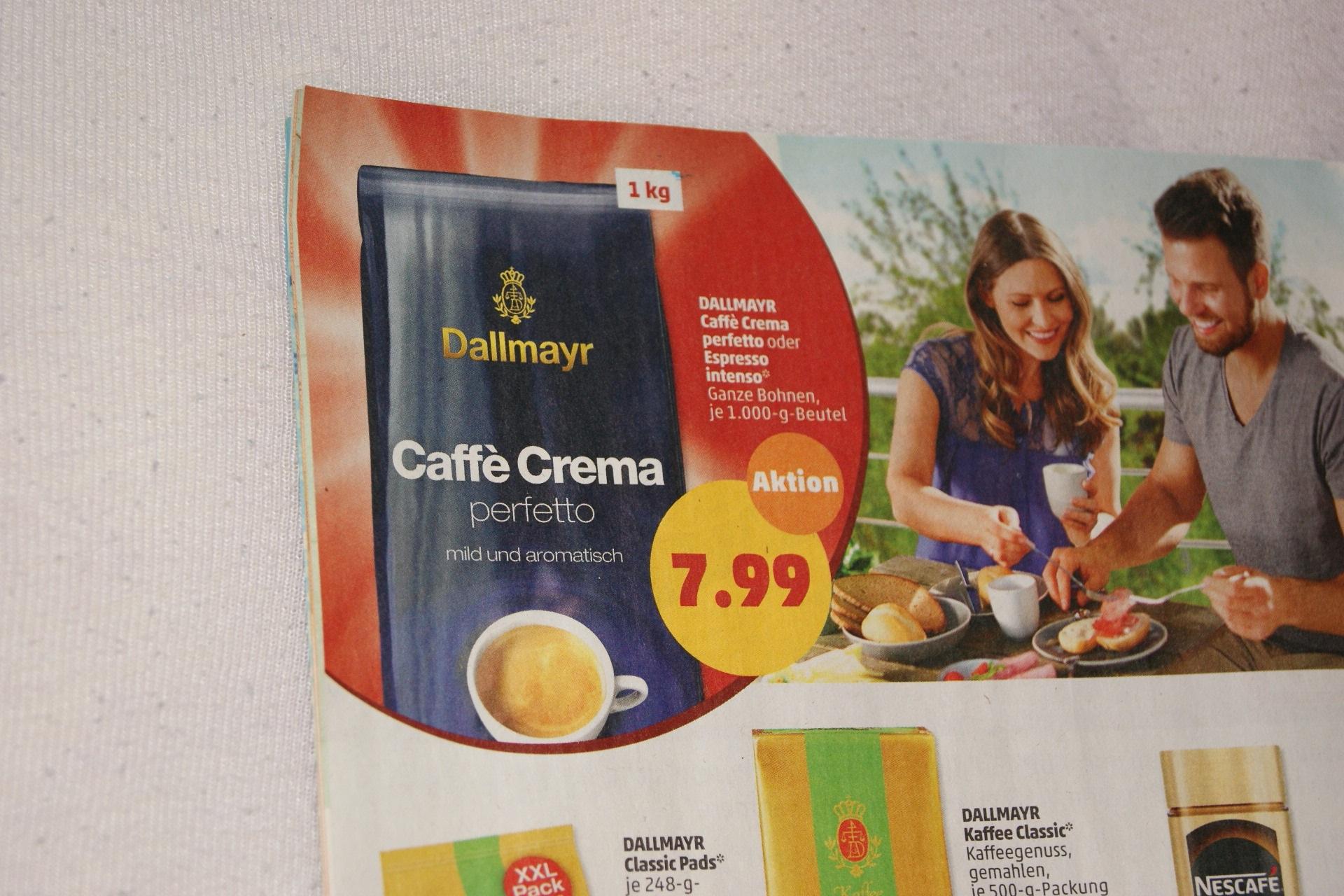 1 kg Dallmayr ganze Kaffeebohnen nur 7,99 Euro ab 17.6. bei Penny bundesweit