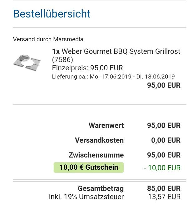 Weber Spirit 300 Serie Edelstahlrost 7586 - Check24 App