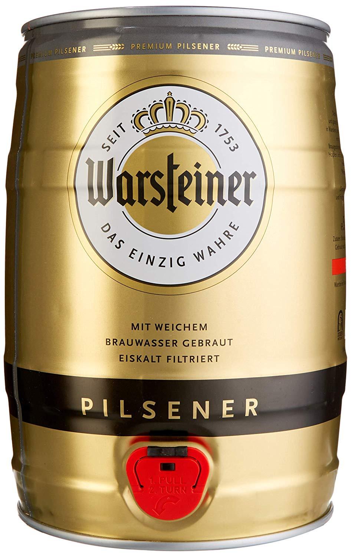 Warsteiner Premium Pilsener 5 Liter Fass [Amazon Prime]