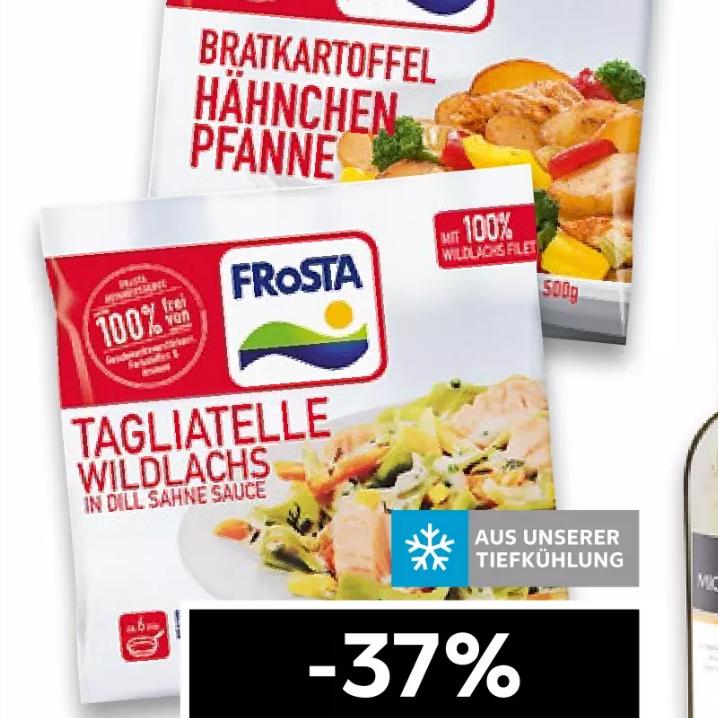 FROSTA Fertiggerichte versch. Sorten im 500g Beutel für 1,99€