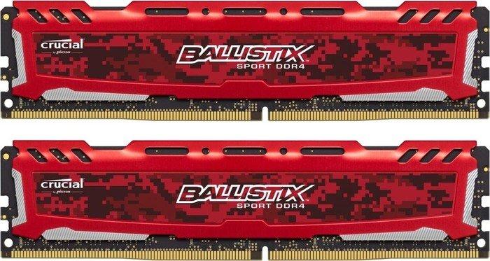 Crucial Ballistix Sport LT rot DIMM Kit 32GB, DDR4-3000, CL15-16-16 (Micron E-Die) bei NBB oder Amazon für 128,99€