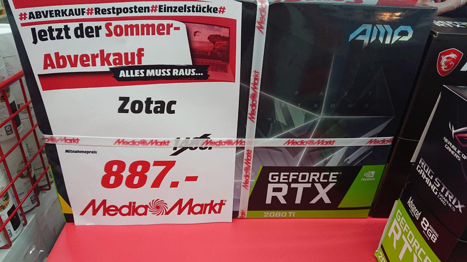 [LOKAL Media Markt Weiterstadt] Zotac GeForce RTX 2080 Ti AMP, 11GB (ZT-T20810D-10P)