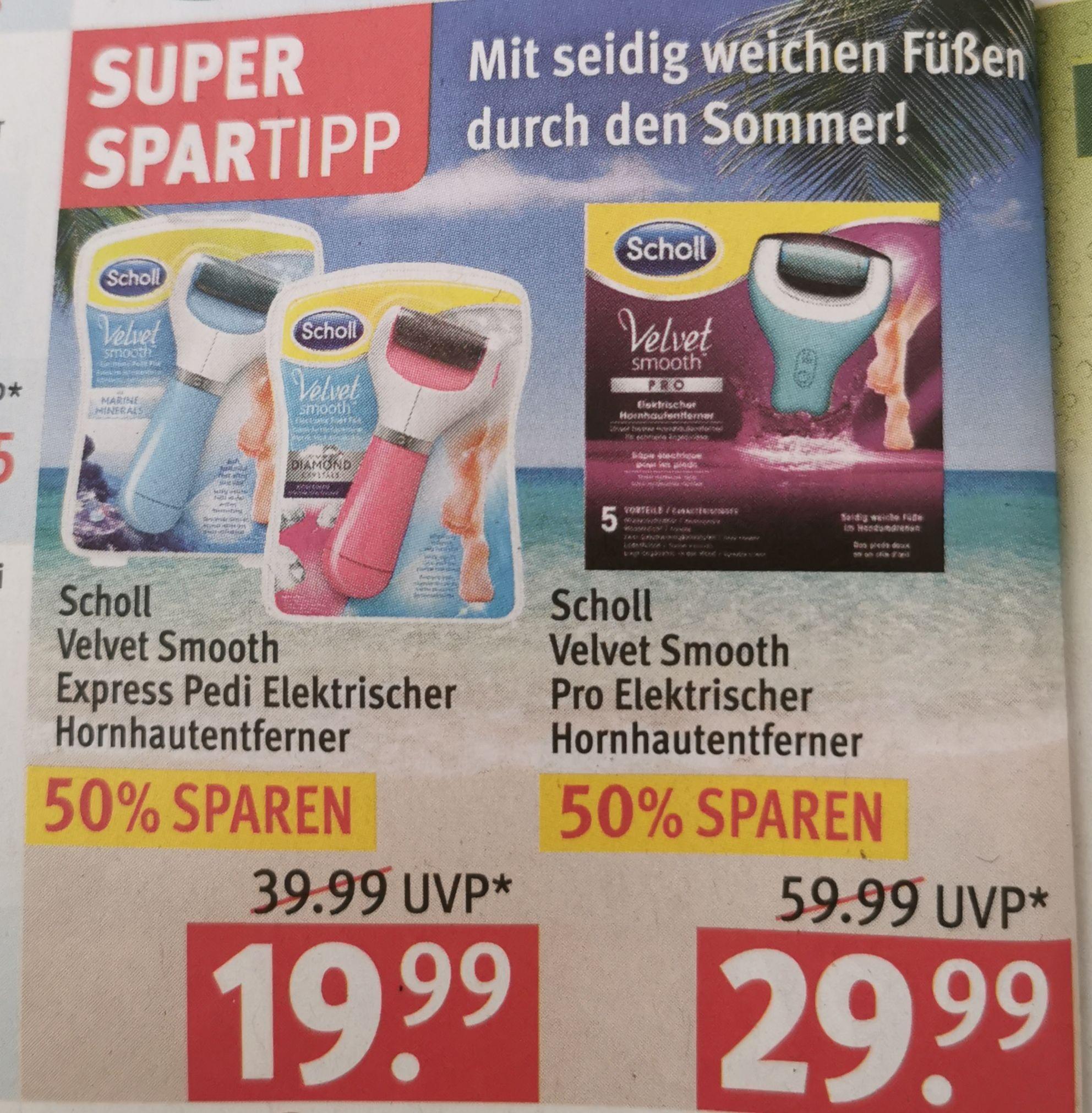 Scholl Velvet Smooth Express für 17,99 € oder Scholl Velvet Smooth Pro für 26,99 € ab 17.06 [Rossmann]