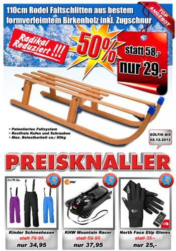 -50% auf Holz Rodel Kinder-Schlitten für 29,- €