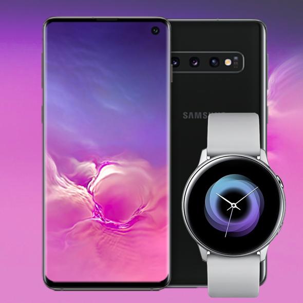 Samsung Galaxy S10 & Galaxy Watch Active für 44€ im Telekom Magenta1 Mobil M Young (19GB LTE) mtl. 39,95€ + 1 Jahr MagentaTV (auch Normalos)