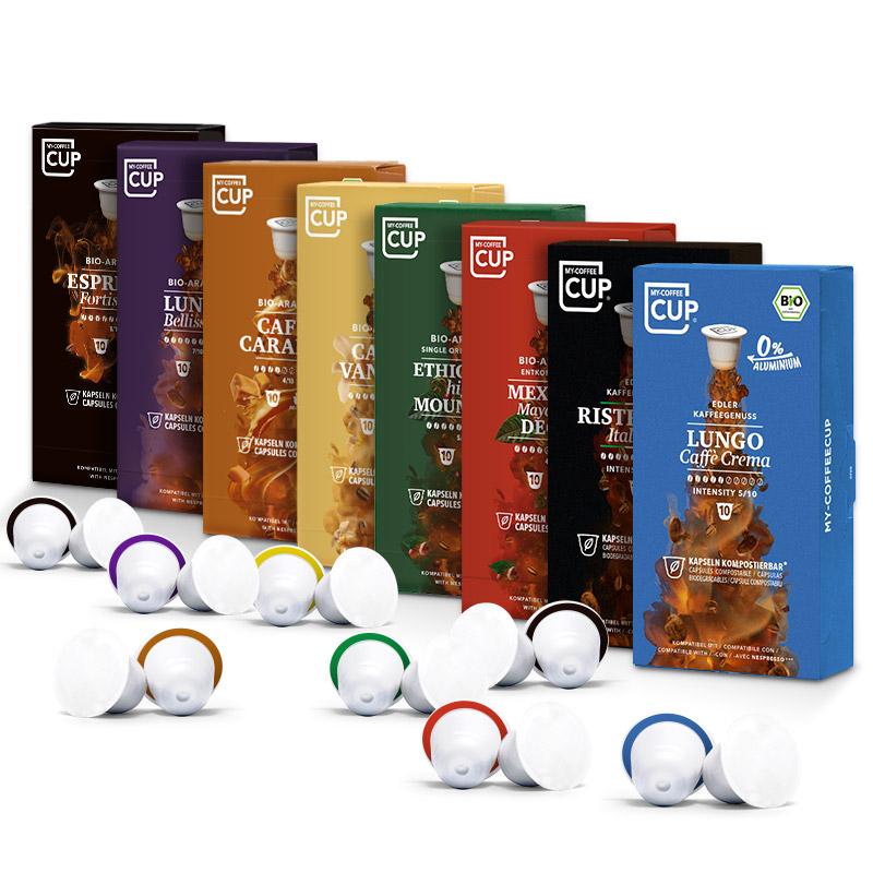 My-Cups 160 Bio Kaffee kompostierbare Kapseln für Nespresso versandkostenfrei