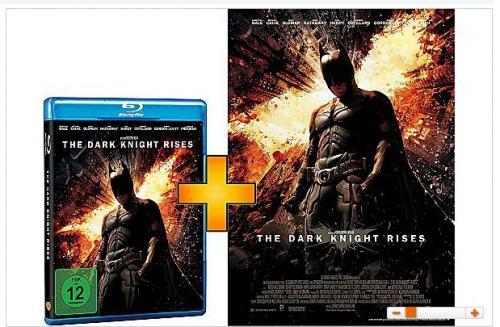 (ONLINE AUSVERKAUFT) Batman - The Dark Knight Rises Blu-Ray +  Original Kinoposter in A1 (DVD 8,99€)