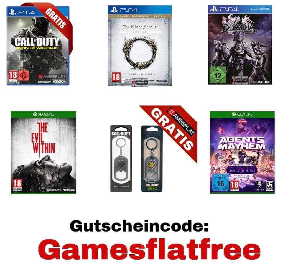 [Gamesflat] Gratis Spiele und Merch (PS4/ Xbox) Nur Versand zahlen