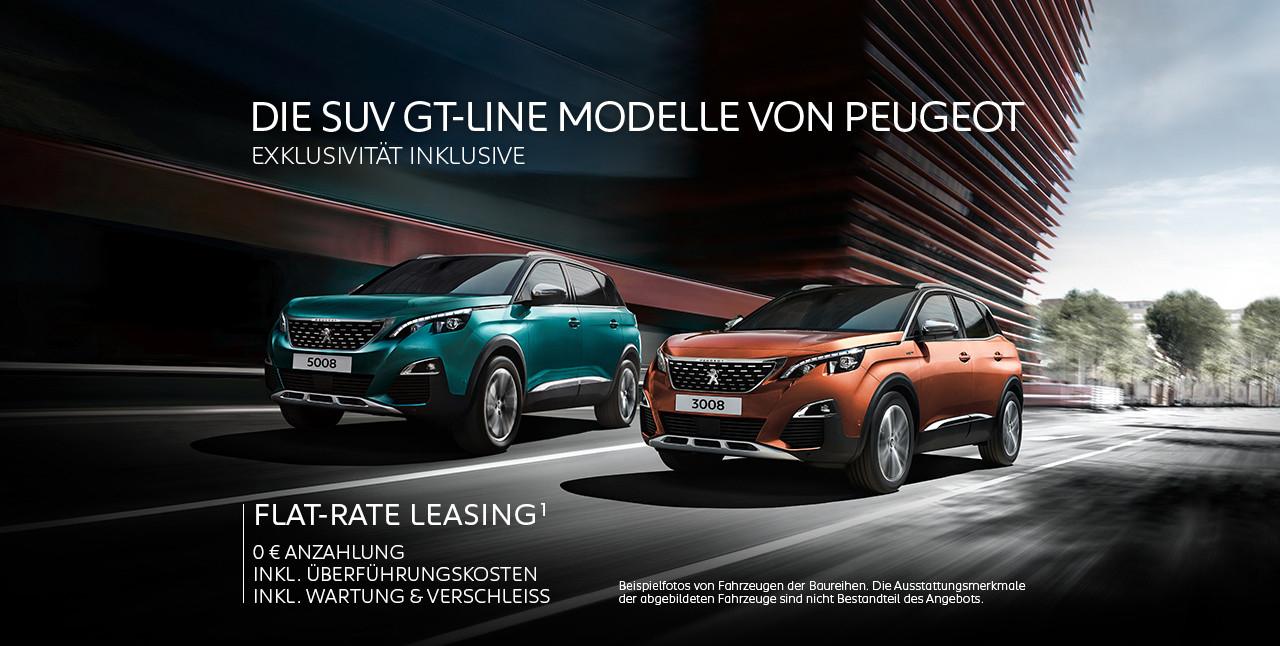 Peugeot 3008/5008 GT Line Leasing *privat* 36/48 Monate inklusive Überführung, Wartung & Verschleiß ab mtl. 277€ brutto