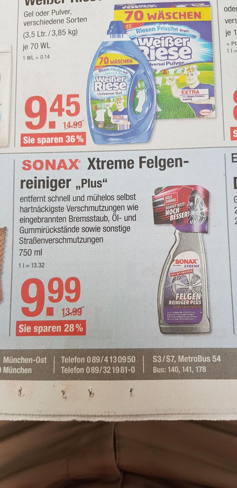 V-Markt München: Sonax Xtreme Felgenreiniger Plus 750ml