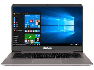 ASUS UX3410UF-GV181T, Notebook mit 14 Zoll Display, Core™ i7 Prozessor, 8 GB RAM, 256 GB SSD, GeForce® MX130, Quartz Grey