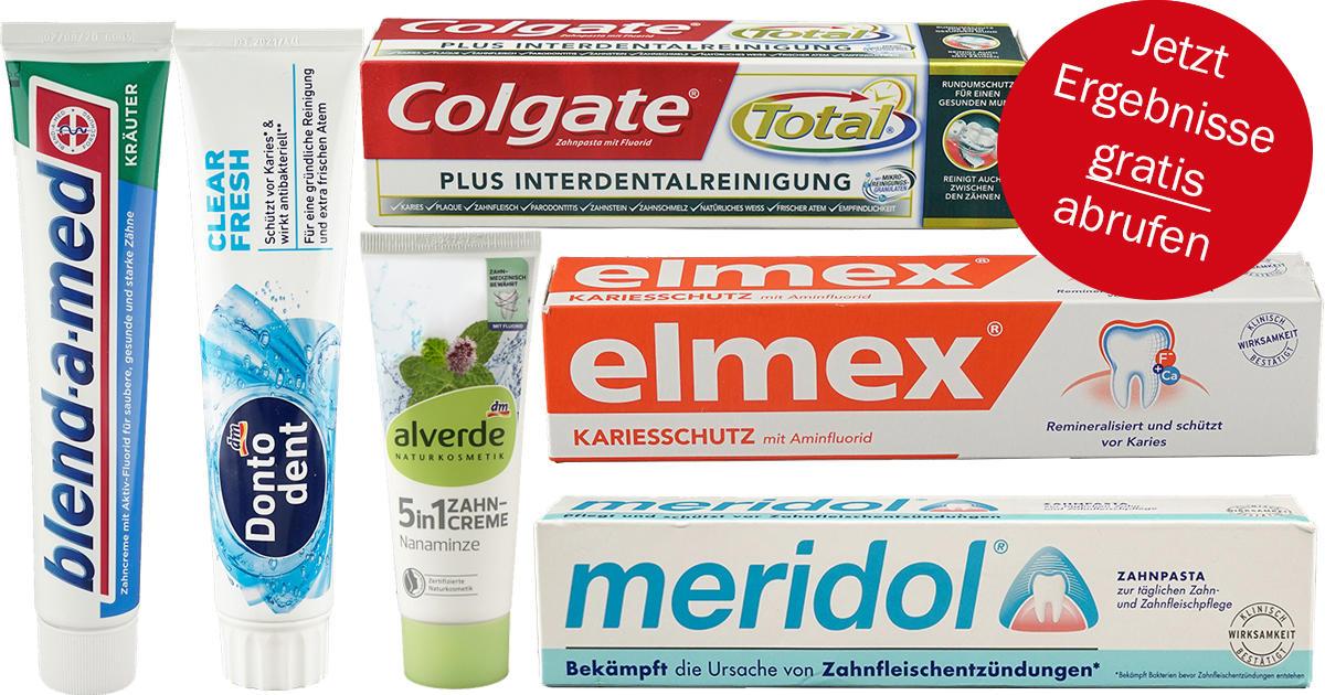 ÖKO-Test: Zahnpasta-Test von über 400 Zahncremes GRATIS abrufen