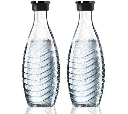 SodaStream Crystal Penguin Glaskaraffe Duopack (QVC Neukunden)