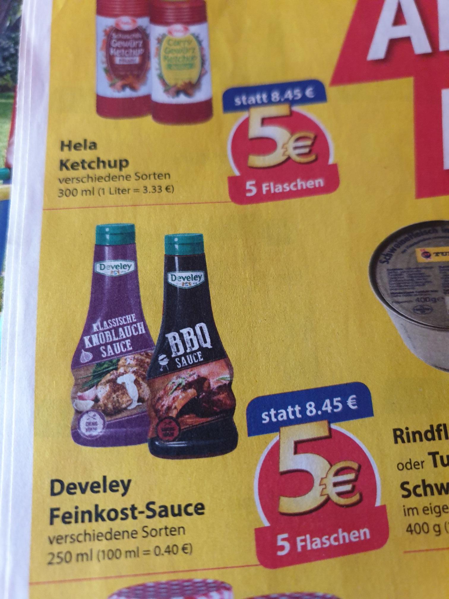 (Famila,evtl. lokal) 5 Flaschen Develey-Saucen für 5€