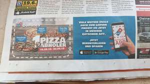 (Lokal Moers?) Pizza für 1 Euro bei Dominos Pizza mit Coupon