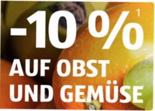 -10% auf Obst und Gemüse bei Einkauf über 40€ [ALDI Süd]