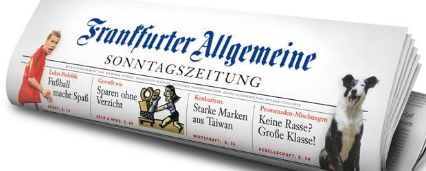 Frankfurter Allgemeine 4 Wochen lesen: 4x FAS / 24x FAZ / F+ FAZ.NET Zugang