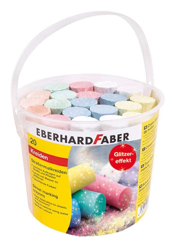 Eberhard Faber Straßenmalkreide Glitzer, 20er Eimer für 2,99€ (Müller)