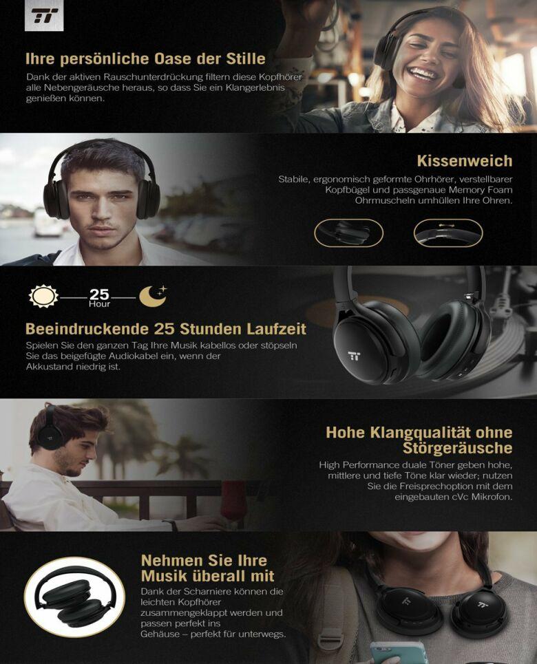 TaoTronics TT-BH22 Over Ear Kopfhörer