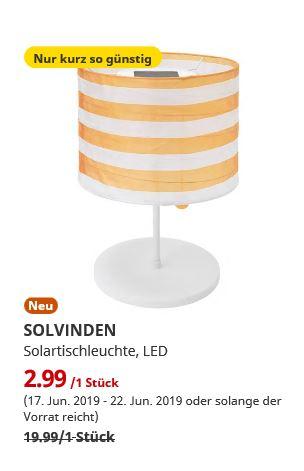 (IKEA Erfurt) SOLVINDEN Solartischleuchte, LED, für draußen, gestreift gelb/weiß