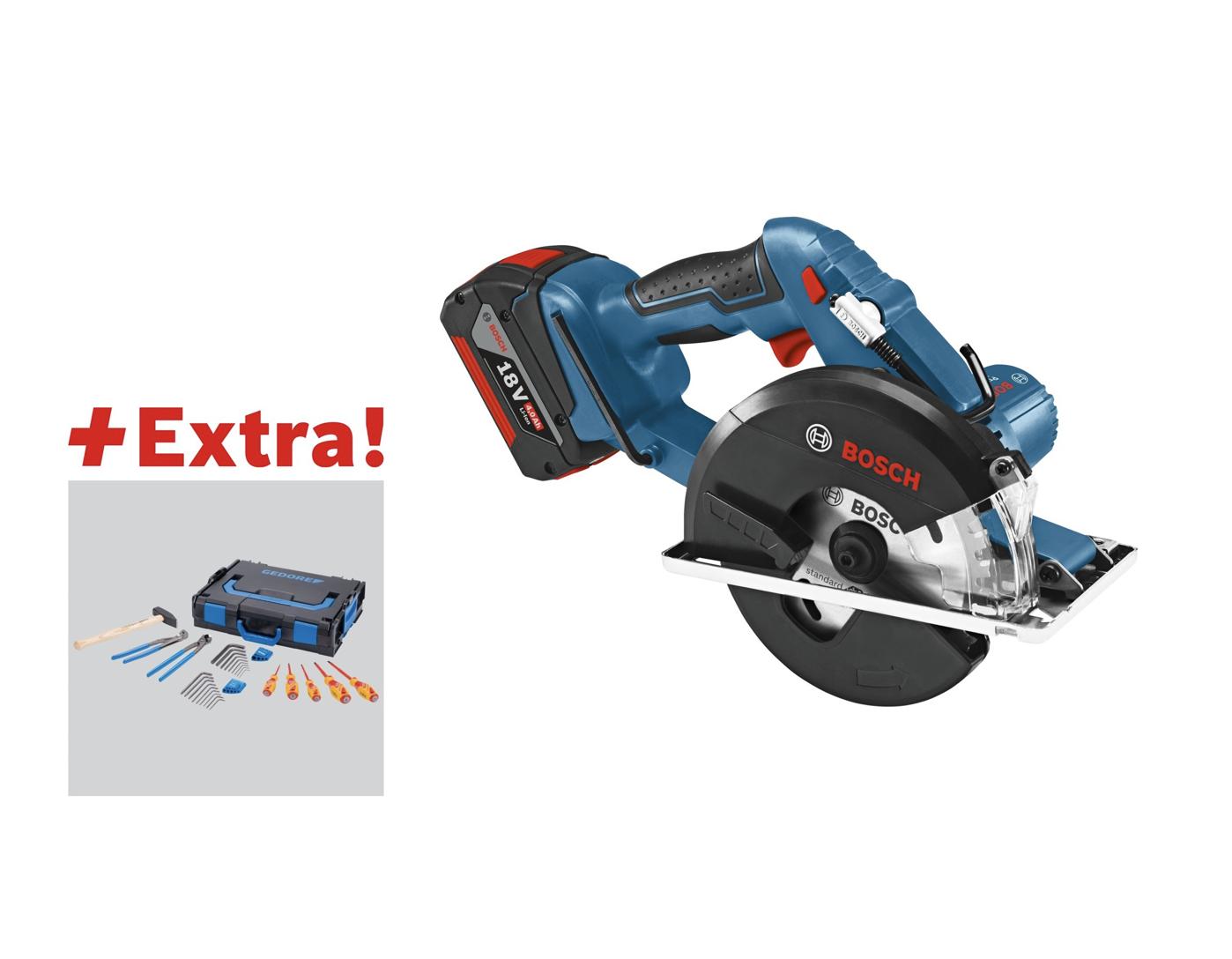 Bosch Akku-Metallkreissäge GKM 18 V-LI Professional + Gedore Werkzeug L-Boxx