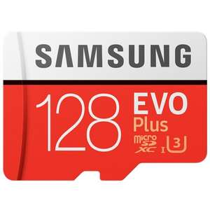Samsung EVO Plus memory card 128GB 100MB/s.