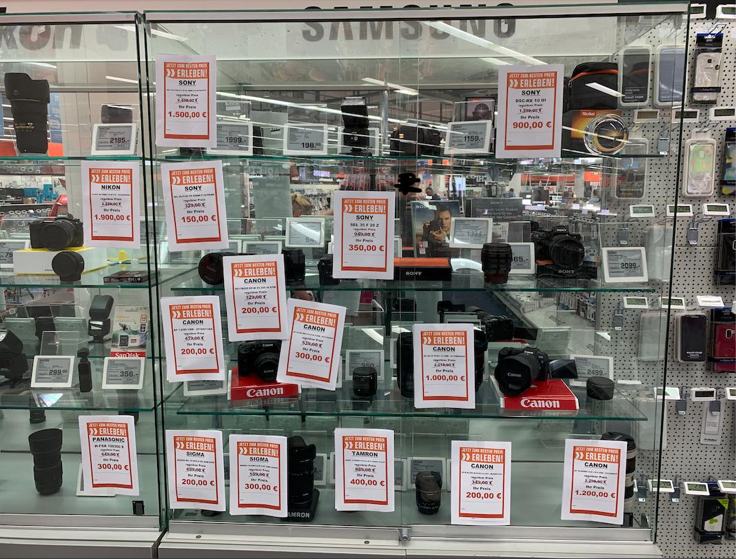 [Sammeldeal Lokal Saturn Osnabrück] Sony 24-70 F 2.8 GM für 1500 Euro, Nikon Z6 Kit 1900 Euro, Canon EF 70-200 2.8 IS USM L II für 1200 uvm