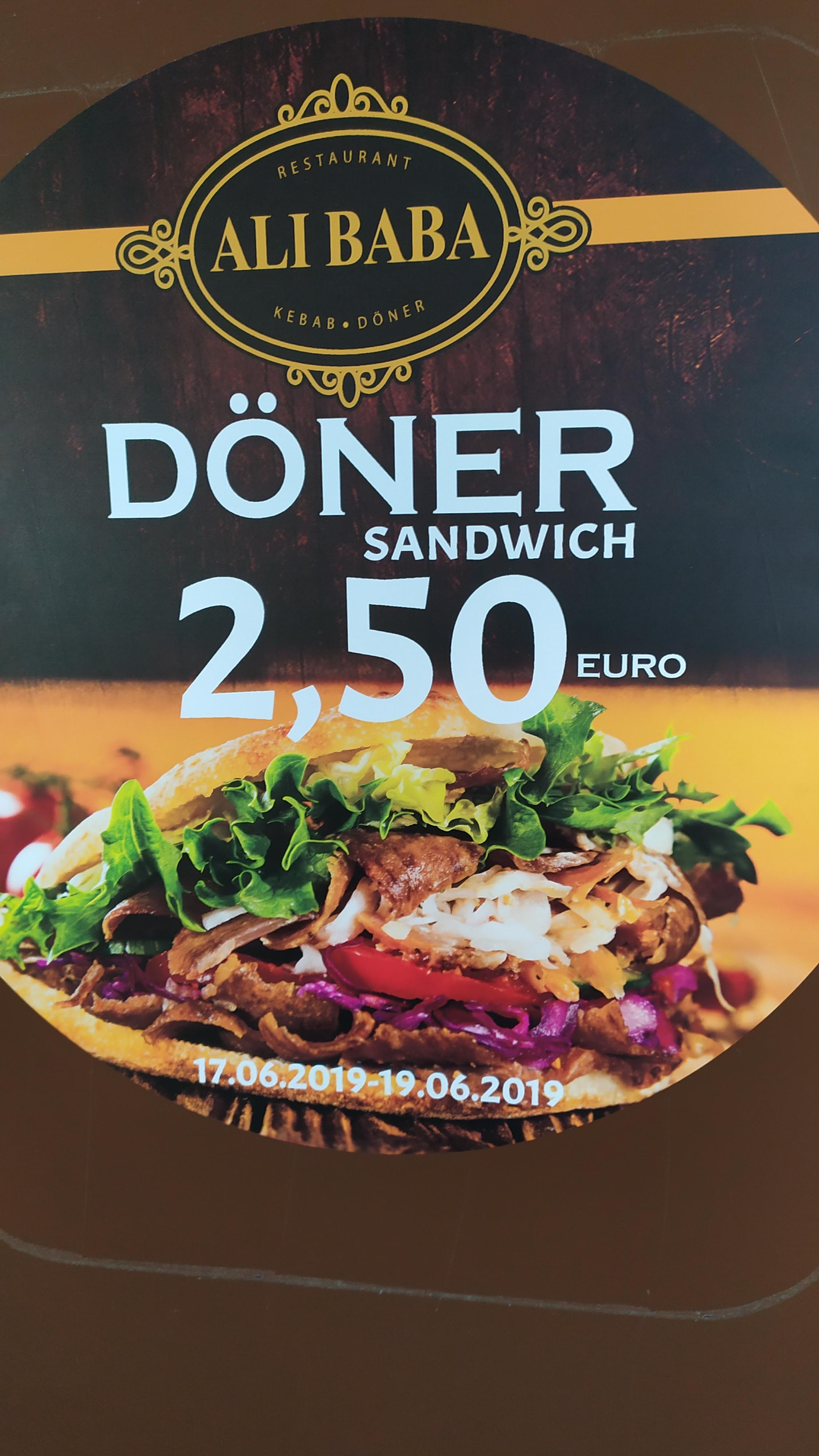 Döner in Köln Chorweiler für 2.50 bis zum 19.06.2019