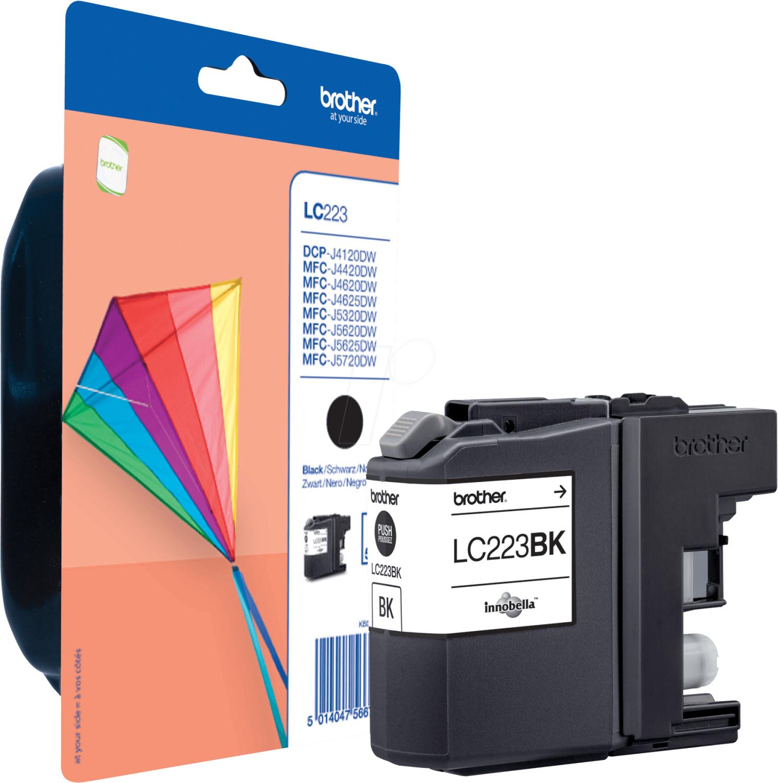 Originale Tinte & Toner für Brother-Drucker: z.B. Brother LC-223BK (schwarz, 550 Seiten) für 14€