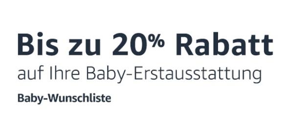 Bis zu 20% Rabatt auf eure Produkte von der Baby-Wunschliste auf Amazon (bis 31.12.2019)