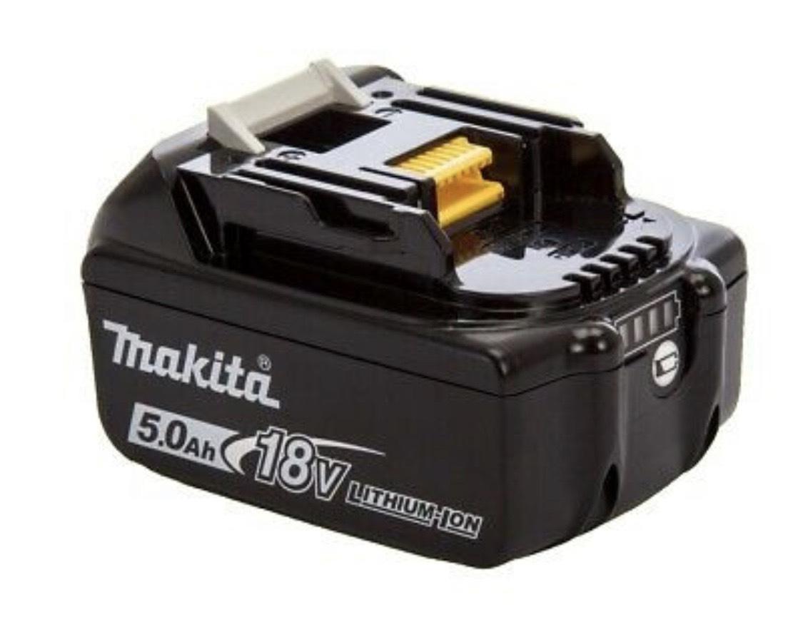 MAKITA Original Akku 18 Volt 5,0 Ah BL1850B 632B77-5  Lithium Ionen
