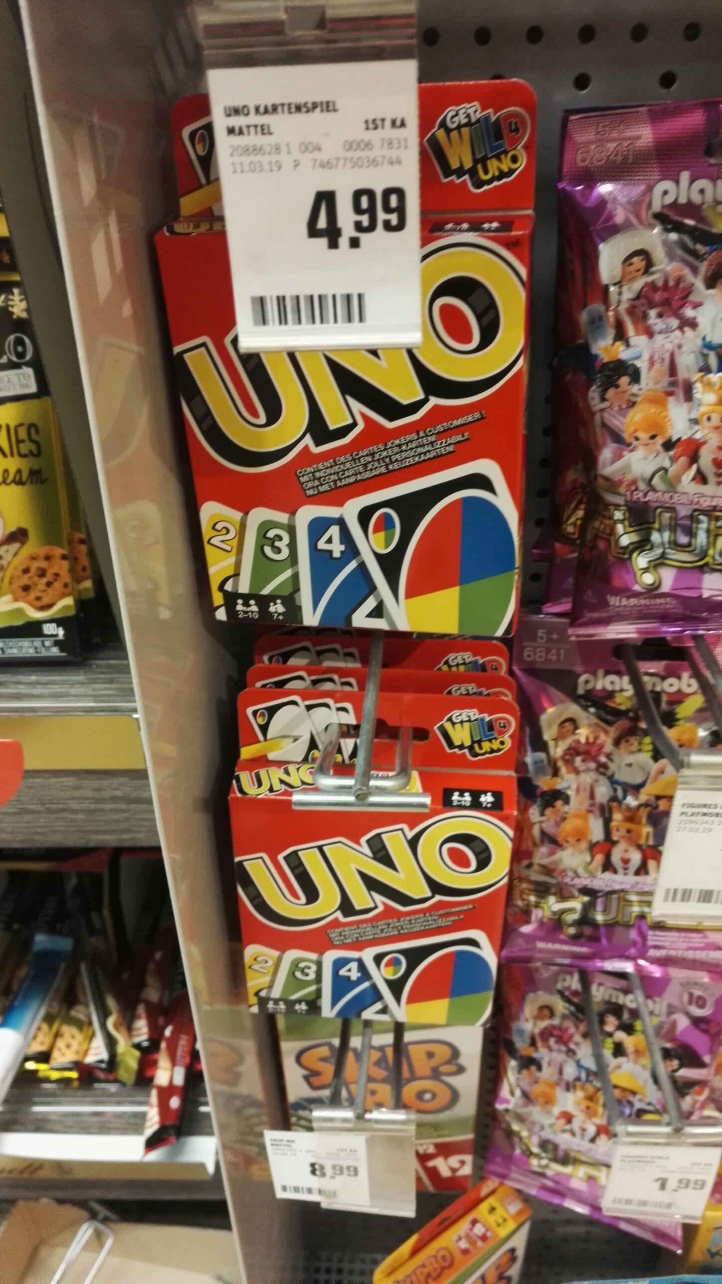 Kartenspiel   UNO   Skip-Bo [lokal? Rewe Karlsruhe Oststadt] Brettspiel
