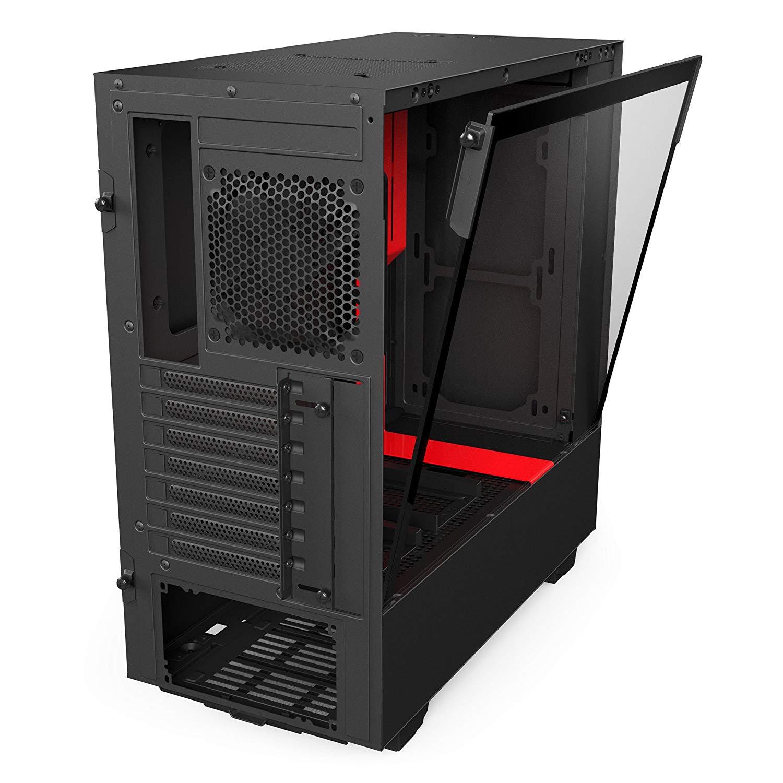NZXT H500 Window Black/Red, Tower-Gehäuse (schwarz/rot, Window-Kit)  NZXT