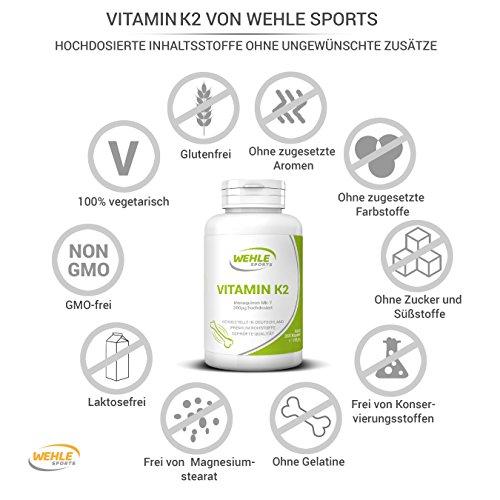 Vitamin K2 MK-7 200 µg (mcg) - 365 Kapseln Premiumqualität